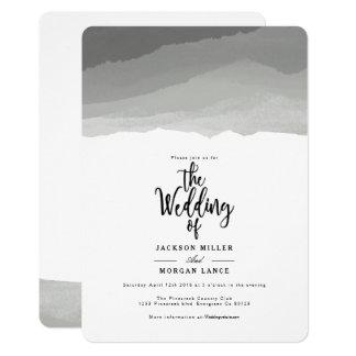 Grey Mountains | Watercolor Wedding Invite