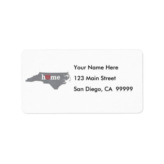 Grey NORTH CAROLINA Home & Open Heart Label