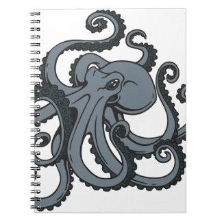 Grey Octopus Spiral Notebooks
