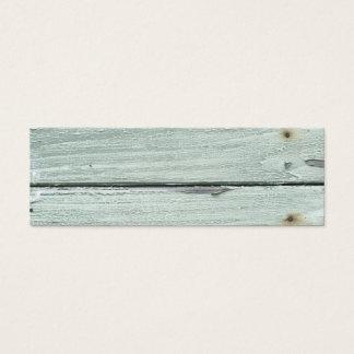 grey old wood mini business card