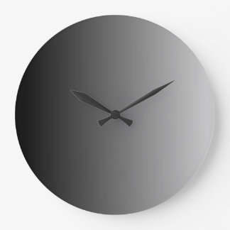 Grey Ombre Large Clock