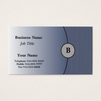 Grey on Blue Business Cards #2