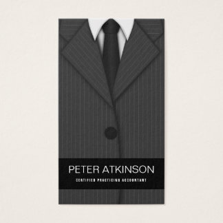 Grey or Gray Pinstripe Suit Vertical Accountant