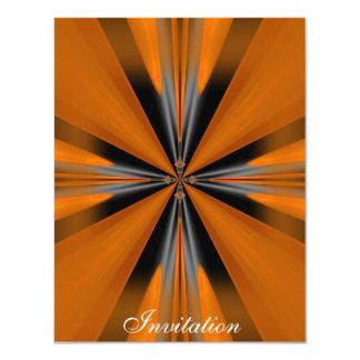 "Grey Orange Rust Geo Shapes 4.25"" X 5.5"" Invitation Card"