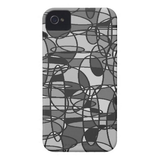 Grey Ovals Blackberry Bold Cover
