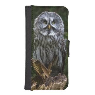 Grey owl iPhone SE/5/5s wallet case