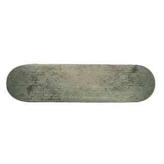Grey Painted Brick Wall Texture Background Skateboard