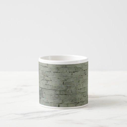 Grey Painted Brick Wall Texture Background Espresso Mug