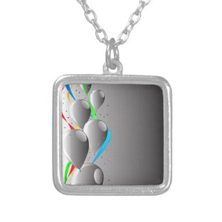 Grey Party Silver Plated Necklace