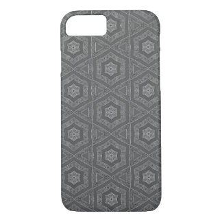 Grey pattern iPhone case