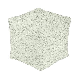 Grey pattern pouf