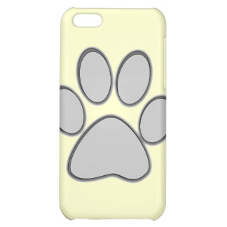 Grey Paw iPhone Case Case For iPhone 5C
