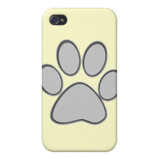 Grey Paw iPhone Case iPhone 4 Covers