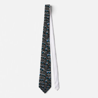 Grey Peacock Feathers Tie