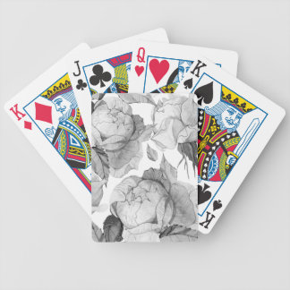 grey peony bicycle playing cards