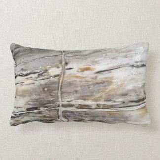 Grey Petrified Wood Pillow