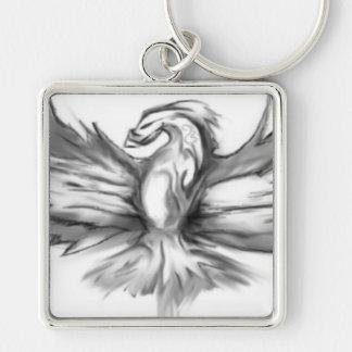 Grey Phoenix Key Ring