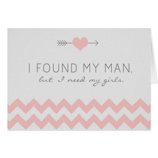 Grey & Pink Chevron Flower Girl Request Card