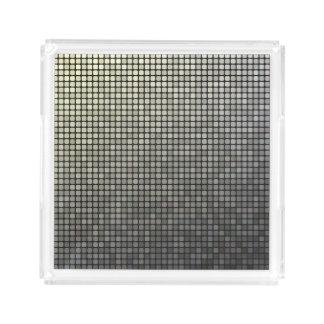 Grey Pixel Art Acrylic Tray