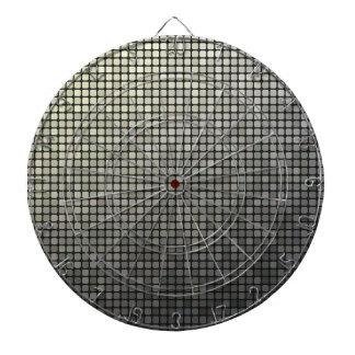 Grey Pixel Art Dartboard