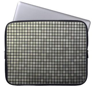 Grey Pixel Art Laptop Sleeve