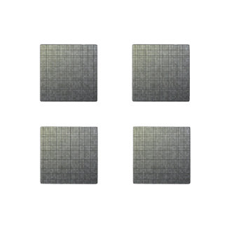 Grey Pixel Art Stone Magnet
