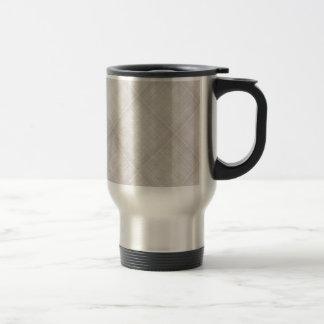 Grey Plaid Background Mug