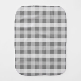 Grey Plaid Burp Cloth
