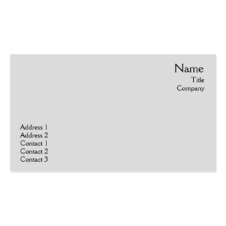 Grey Plain - Business Pack Of Standard Business Cards