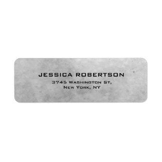 Grey Plain Elegant Modern Trendy Return Address Label
