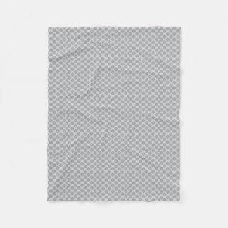 Grey polka dots blanket