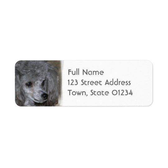 Grey Poodle Mailing Labels