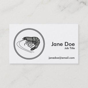 Grey Prawn - Fish Prawn Crab Collection Business Card