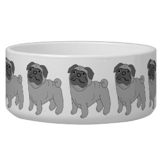 Grey Pug Dog Design
