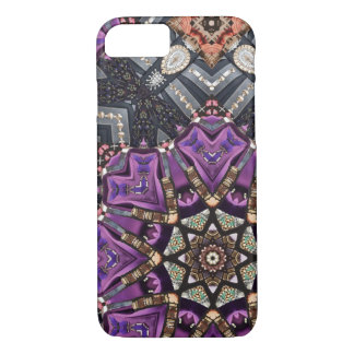 Grey purple fractal steampunk Kaleidoscope iPhone 8/7 Case