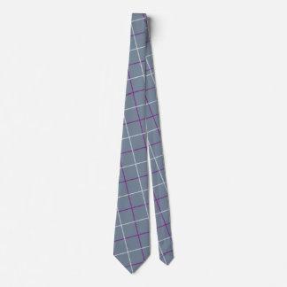 Grey/Purple Plaid tie