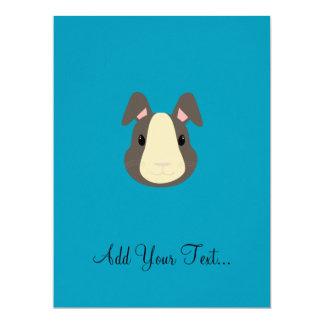 Grey rabbit 17 cm x 22 cm invitation card