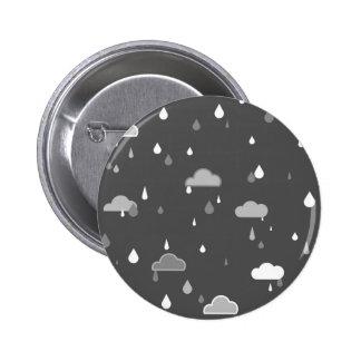 Grey Rains 6 Cm Round Badge