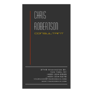 Grey Red Yellow Attractive Charming Business Card