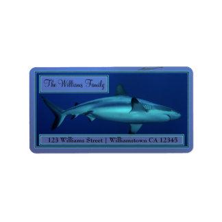 Grey Reef Shark Address Labels