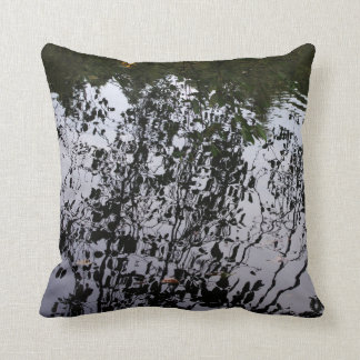 Grey Reflections in Water Pillow
