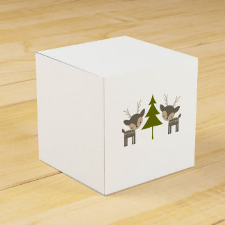 Grey Reindeer Christmas Gift Box