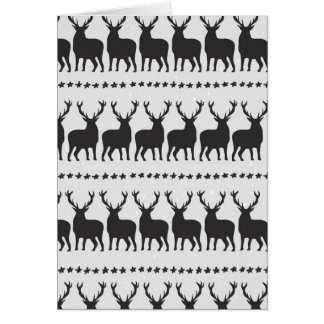Grey Reindeer Design Christmas Card