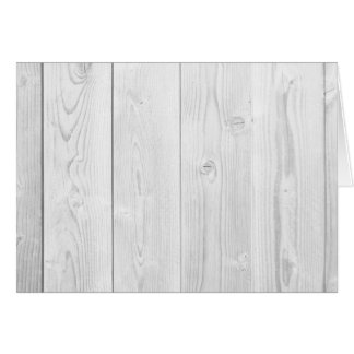 Grey Retro Wooden Planks Hardwood Blank Notecard