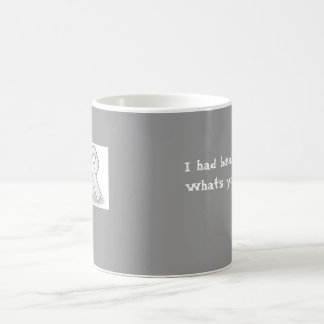 grey ribbon, I had brain surgery.What's your ex... Basic White Mug
