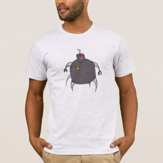 Grey Robot Cyclops Spider T-Shirt