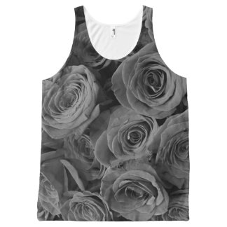 Grey Roses All-Over Print Singlet