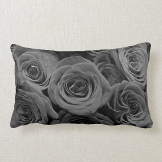 Grey Roses Lumbar Cushion