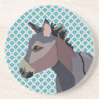 Grey s Donkey Art Coaster
