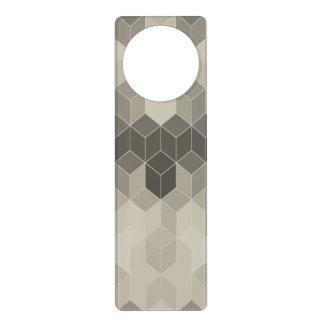 Grey Scale Cube Geometric Design Door Hanger